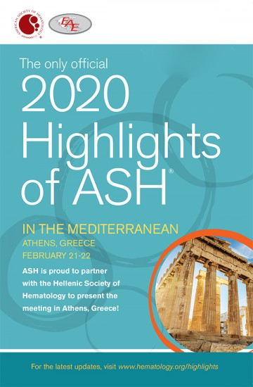 2020 Highlights of ASH IN THE MEDITERRANEAN