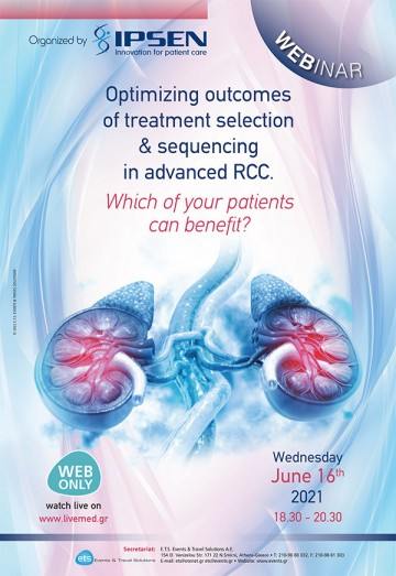 Webinar: Optimizing outcomes of treatment selection & sequencing in advanced RCC. Which of your patients can benefit?