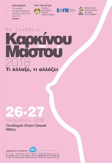 6o Συνέδριο Καρκίνου του Μαστού 2018 - Τι άλλαξε, τι αλλάζει.