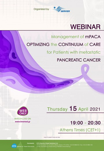 Webinar - Management of mPACA - Optimizing the Continuum of Care for Patients with metastatic Pancreatic Cancer