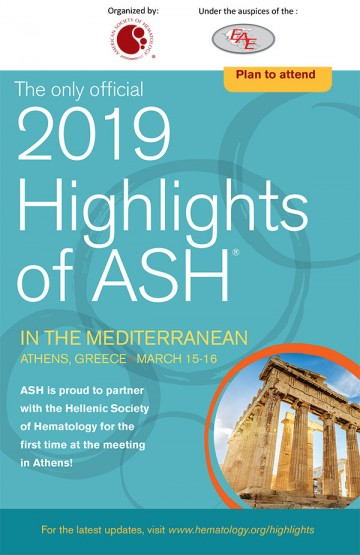 2019 Highlights of ASH in the Mediterranean