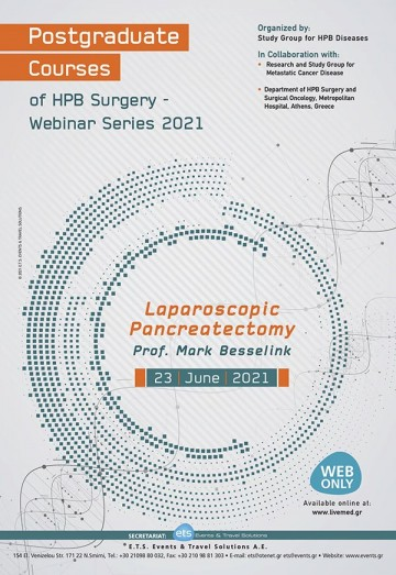 Postgraduate Courses of HPB Surgery Liver and Biliary Surgery 2020-2021 - Laparoscopic Pancreatoctomy